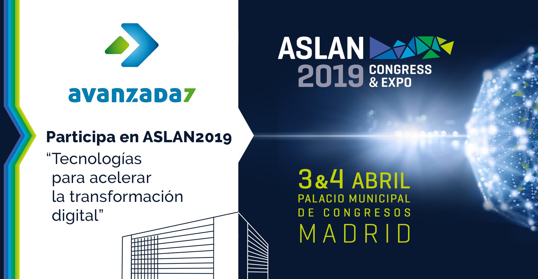 Imagen: See you at ASLAN !: 03 and 04 April - Madrid