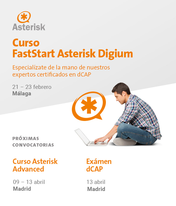Imagen: Get started in Asterisk with our certified dCAP experts | February 21-23th
