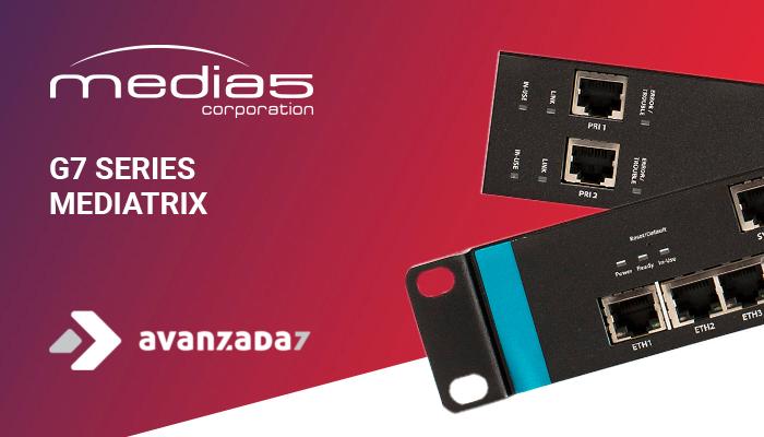 Imagen: G7 Mediatrix series, now available in Avanzada 7