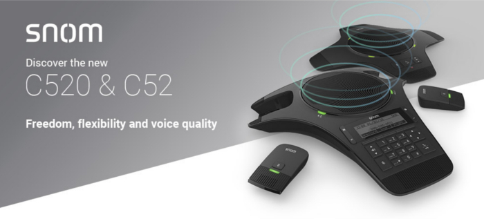 Imagen: Discover the news in audio conference of Snom: C520 and C52-SP