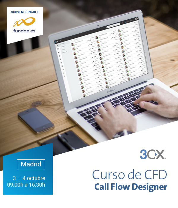 Imagen: CFD training for 3CX | October 03 - 04 in MADRID