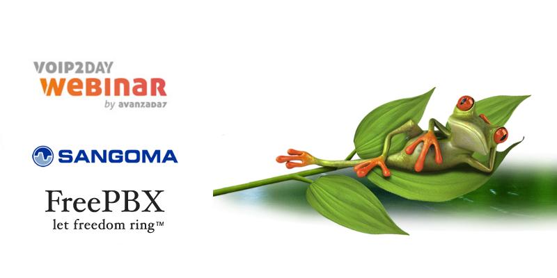 Imagen: VoIP2DAY Webinar Sangoma | The Sponsor of FreePBX | March 01st at 16:00