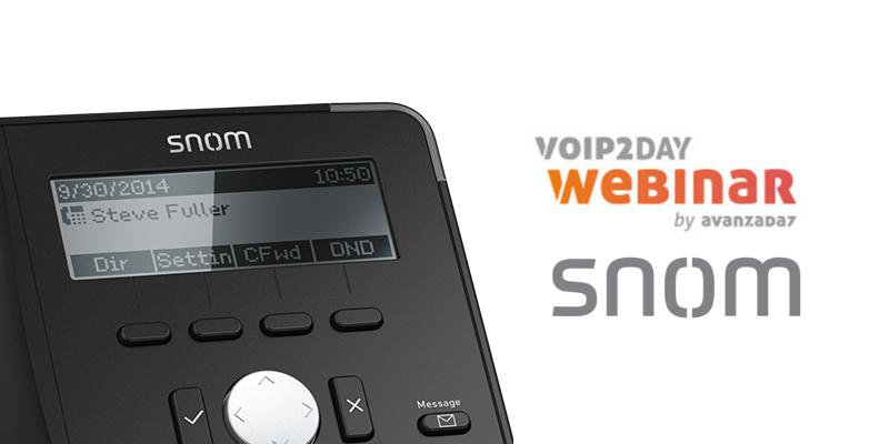 Imagen: Webinar Snom - 15th February at 16:00 (CET)
