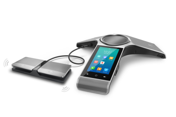 Audio conferencing kit with two CPW90 expansion microphones with touch screen and Android 5.1