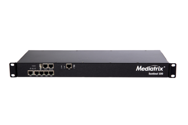 Mediatrix Gateway with SBC that includes 1 USB port and capacity for up to 150 simultaneous VoIP channels