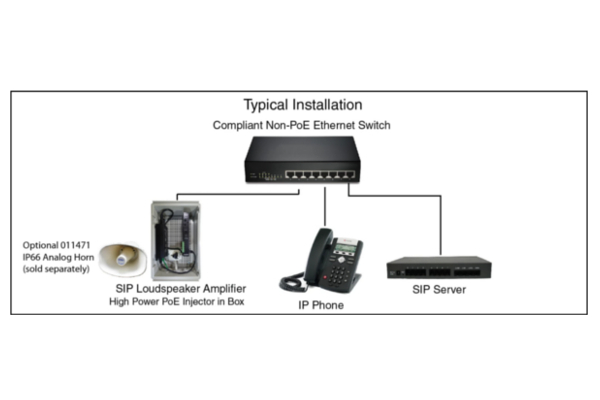 Cyberdata 011404 VoIP Amplifier with support for G.722 codecs already available in Avanzada 7
