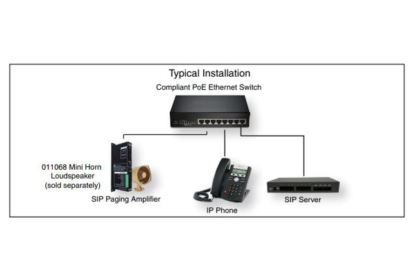 VoIP Paging amplifier of cyberdata 011324 with G.722 voice codecs and 10 / 100Mbps ethernet
