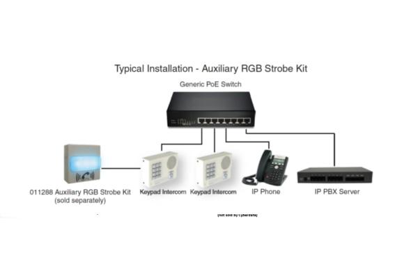 Imagen 3: Cyberdata VoIP intercom Keypad signal white
