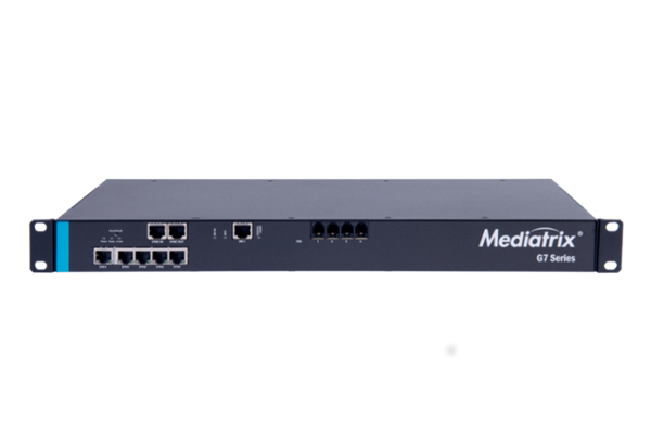 Gateway Mediatrix G7 that incorporates 5 Gigabit ports and PRI & FXS ports available in the online store of Avanzada 7