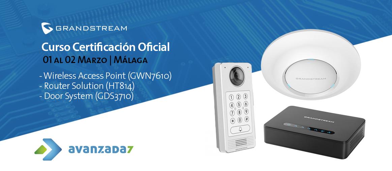 Imagen: Curso Certificación Oficial - GWN7610, Router Solution y Door System | 01 - 02Marzo en Málaga