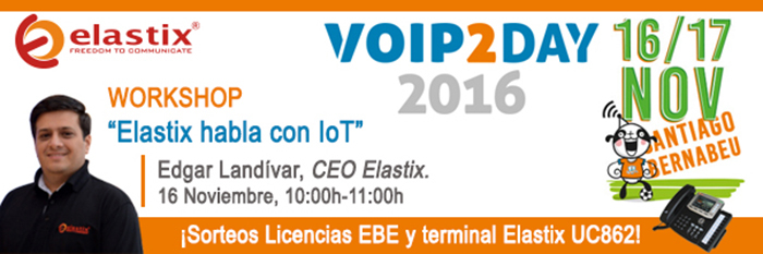 Imagen: Elastix habla con IoT - Workshop - Voip2Day 2016