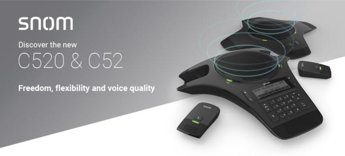 Imagen: Descubre las novedades en audioconferencia de Snom: C520 y C52-SP
