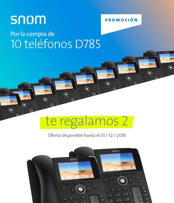 Imagen: Promoción Snom | ¡Compra 10 teléfonos D785 y te regalamos dos!