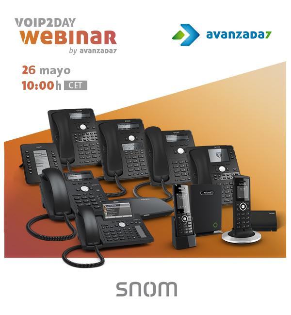 Imagen: Webinar Snom | 26 MAYO a las 10:00 (CET)