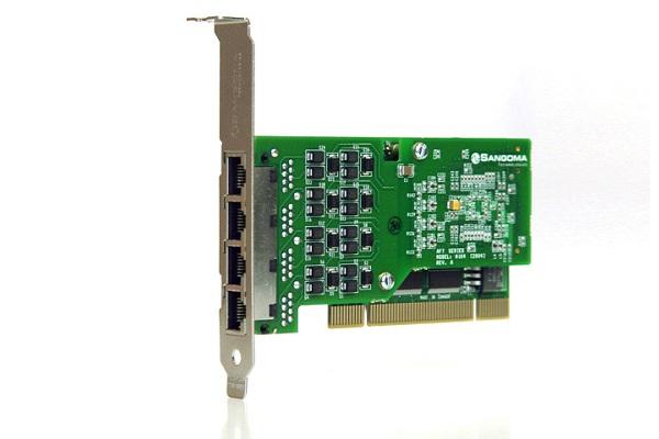 Imagen 1: Tarjeta Sangoma A104D (4E1 PCI Echo Cancel)