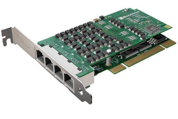 Imagen 1: Tarjeta Sangoma A108D (8E1 PCI Echo Cancel)