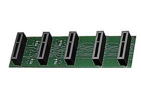 Imagen 1: Backplane Sangoma A200 5 conectores (A200BP5)