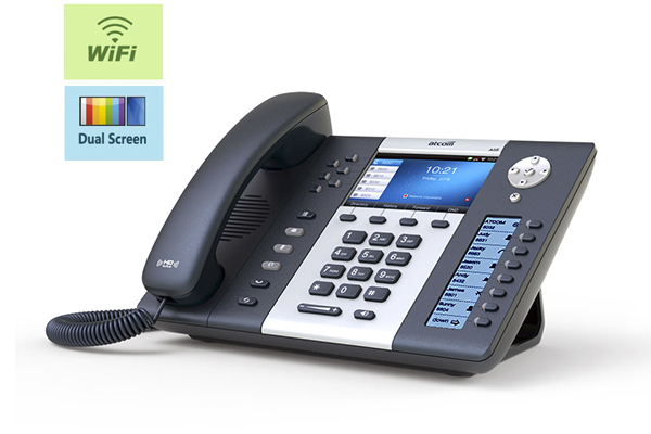 Teléfono IP Sobremesa ATCOM A68W con seis cuentas SIP