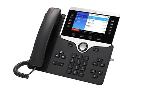 Teléfono IP de Cisco 8851 con 5 líneas programables y conectividad bluetooth 3.0 con pantalla a color