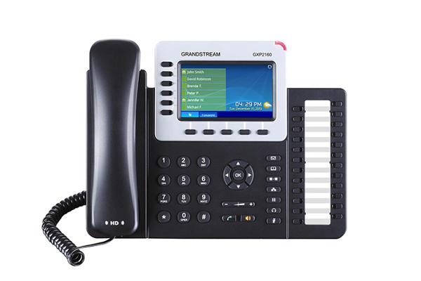 Teléfono IP Grandstream GXP2160 con pantalla a color de 4.3 pulgadas