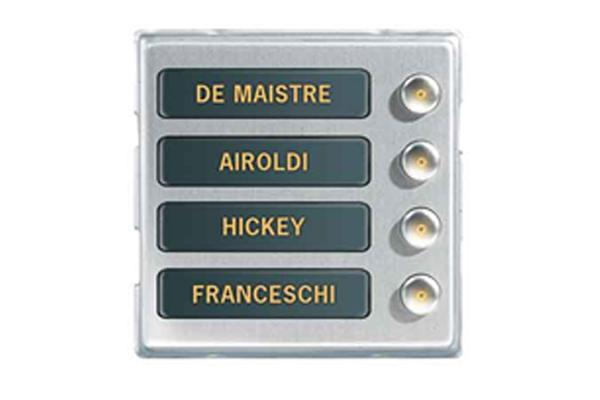 Imagen 1: Alphatech módulo 4 botones maestro (NC-mod4)