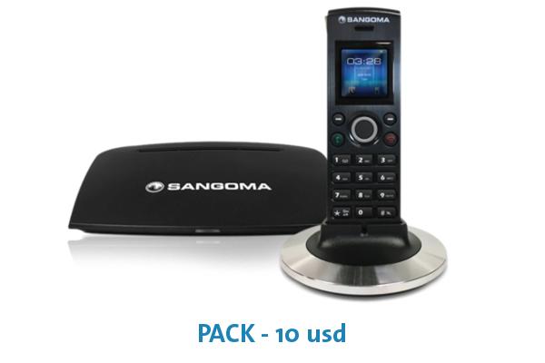 Imagen 1: Sangoma 10 Pack D10M Handset & DB20E Base Station