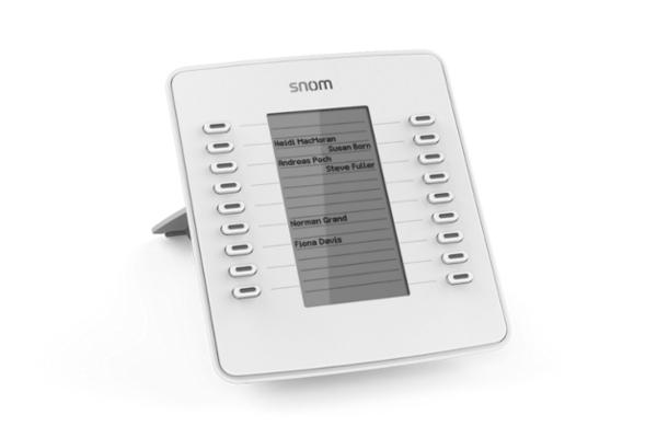 Teclado Snom D7 blanco para D715, D72x y D76x ya disponible en la tienda online de Avanzada 7