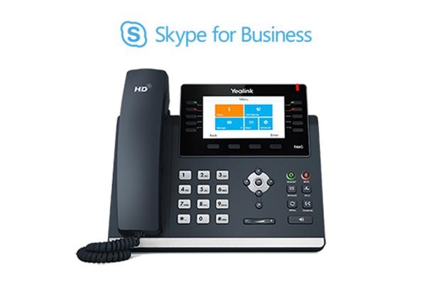 Teléfono de sobremesa Yealink T46G cualificado para Skype for Business (Office 365) Microsoft