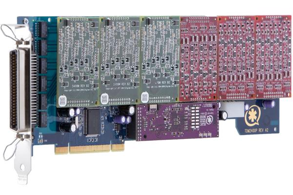 Tarjeta Digium TDM2400P con puertos combinados de FXS y FXO
