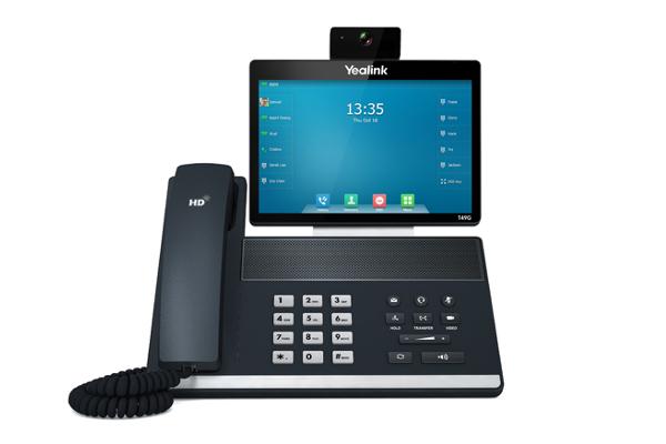 Videoteléfono T49G de Yealink con pantalla táctil y 16 cuentas SIP