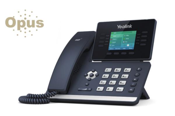 Terminal Yealink T52S con pantalla a color y sonido HD con codec Opus incorporado