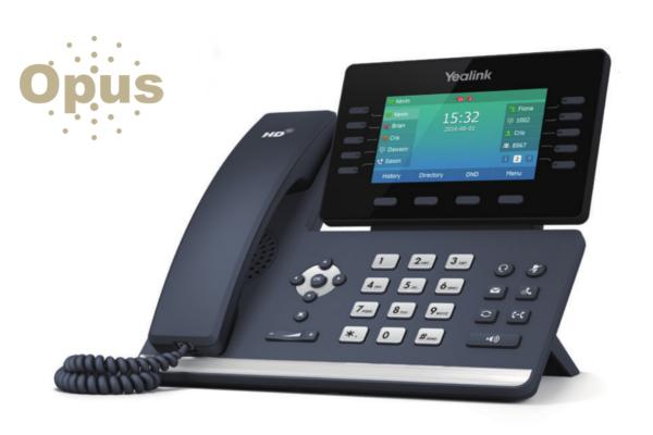 Teléfono Yealink T54S con pantalla a color y OPUS incorporado ya disponible en Avanzada 7