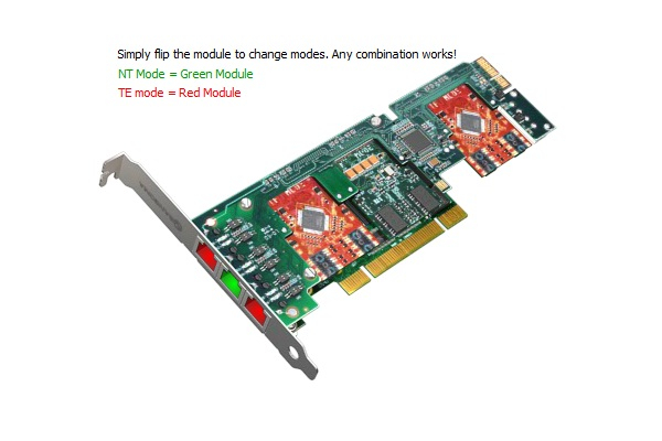 Imagen 2: Tarjeta Sangoma A500 Base+rémora (6 puertos BRI)