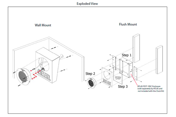 Imagen 2: Cyberdata clock kit pared (signal white)