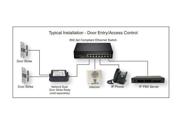 Intercomunicador Cyberdata 011211 ideal para interiores con cancelador de eco-acústico y full-dúplex