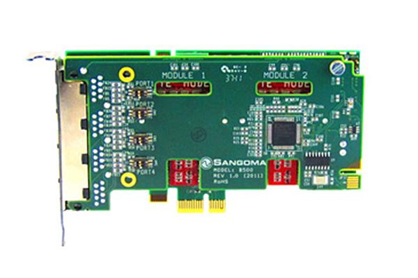Imagen 2: Tarjeta Sangoma B502DE (4 BRI - PCIe + E.C.)