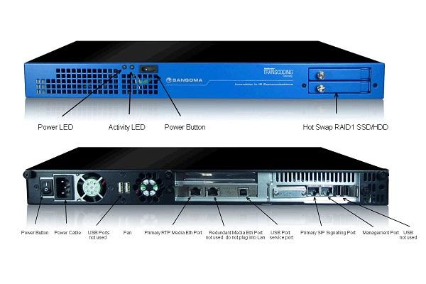 Imagen 2: Gateway SS7 Sangoma 4 E1 con transcoding (1U)