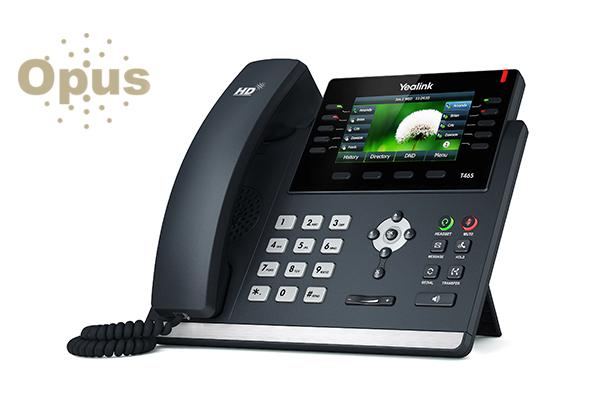 Teléfono IP Yealink T46S con codec OPUS, teclas BLF, Gigabit e indicadores LED