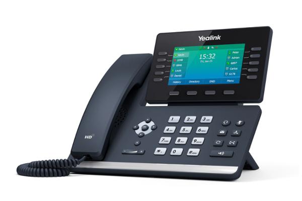 Teléfono IP de sobremesa Yealink T54W con 16 cuentas SIP, audio HD y códec OPUS incorporado ya disponible en Avanzada 7