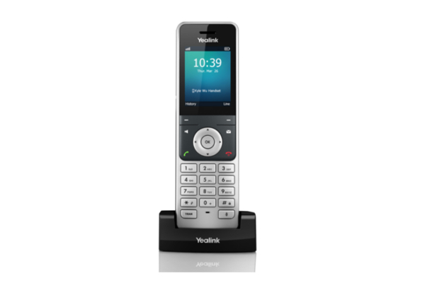 Teléfono DECT de Yealink W56H con pantalla a color y micrófono Full-HD