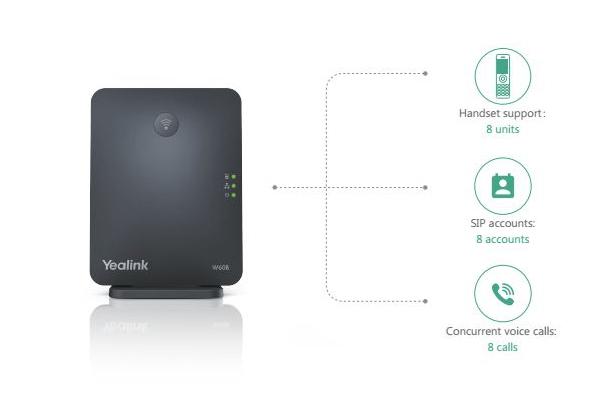Solución inalámbrica Yealink W60P DECT con hasta 8 cuentas VoIP y 8 llamadas simultáneas ya disponible en Avanzada 7