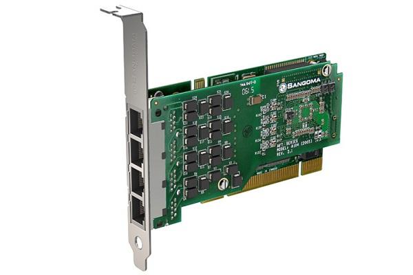 Imagen 3: Tarjeta Sangoma A104D (4E1 PCI Echo Cancel)