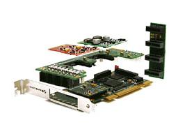 Imagen 3: Backplane Sangoma A200 3 conectores (A200BP3)