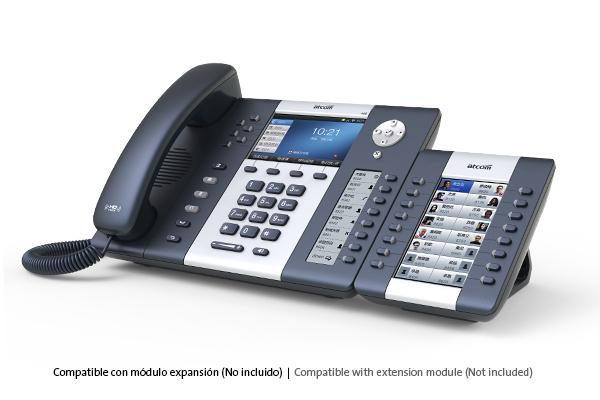 Teléfono IP Sobremesa ATCOM A68W con WiFi y pantalla a color