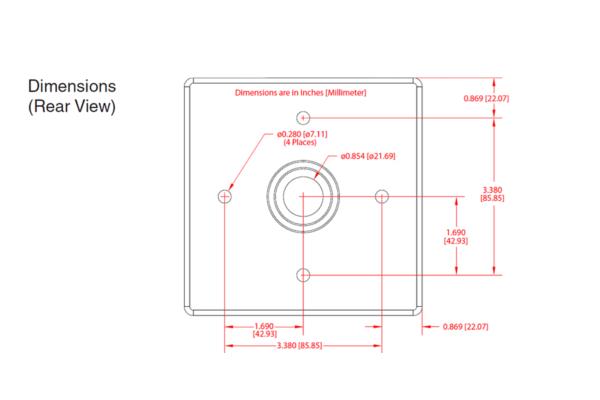 Imagen 3: Cyberdata outdoor intercom v3 shroud (visera)