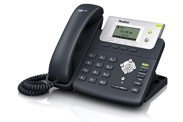 Teléfono IP Yealink T21P con 2 puertos RJ45
