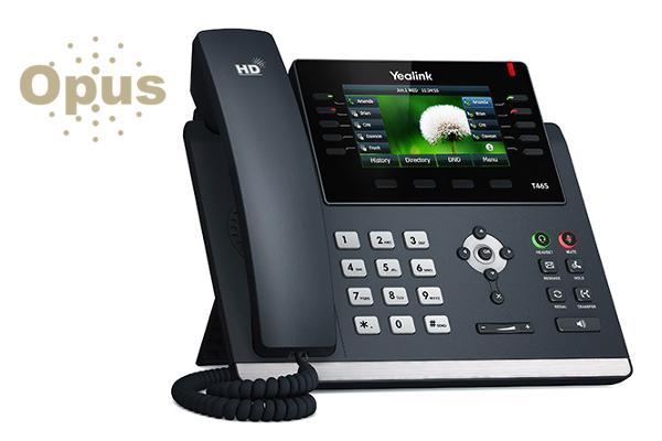 Teléfono IP Yealink T46S con codec OPUS montable en pared ya disponible en la tienda online de Avanzada 7