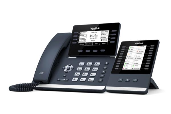 Teléfono de sobremesa Yealink T53 con pantalla LCD retroiluminada ajustable según el ángulo de mayor confort del usuario