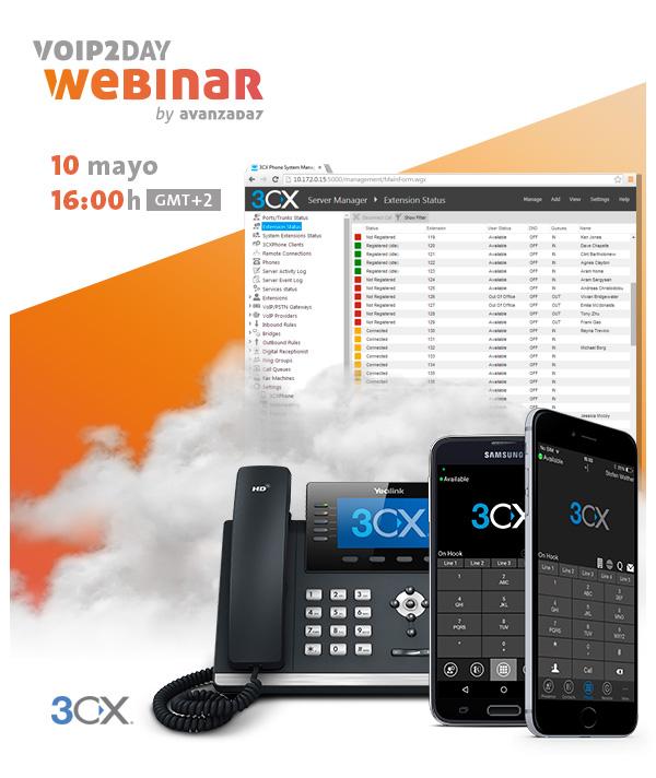 Imagen: VoIP2DAY Webinar: Modelo de Negocio 3CX en la nube | Martes 10 Mayo