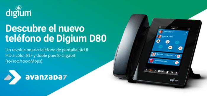 Teléfono IP Táctil Digium D80 - Avanzada 7